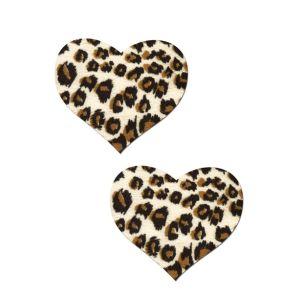 Kaamastra Leopard Print Heart Pasties