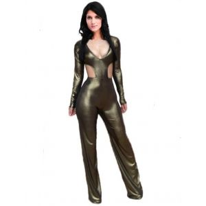 Kaamastra Sexy Glossy Jumpsuit-LC9197 at Kaamastra