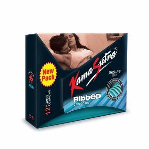 KamaSutra Ribbed Condom Pack Of 12-BCKSR12 at Kaamastra