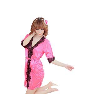 Kaamastra Sanaya Satin Pink Robe-K-230013 at Kaamastra