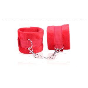 Kaamastra simple wrist restraints - Red-Q2YJF1018-R at Kaamastra
