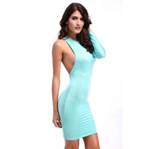 Kaamastra One Sleeve Bold Bandage Dress-QC9157 at Kaamastra