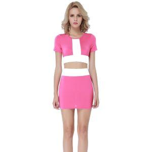 Kaamastra Pink and White 2 Tone Dress-QC9462 at Kaamastra