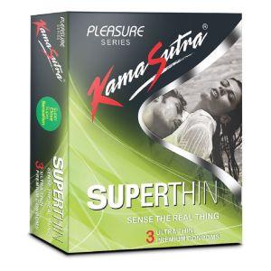 Kamasutra Superthin Pack of 3 Condoms-BCKSST3 at Kaamastra