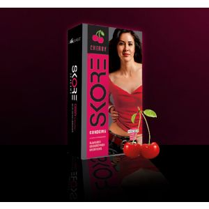Skore Condom Cherry Flavoured Pack Of 10-BCSECY10 at Kaamastra