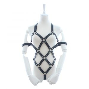 Kaamastra Faux Leather Body Harness-Q2ILF1103 at Kaamastra