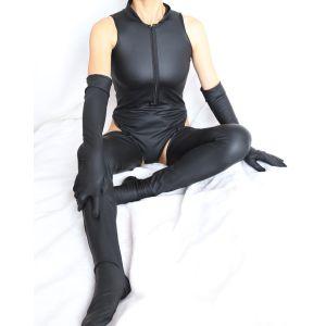 Kaamastra Milena Latex Cleavage Bodysuit-Q2ILF1119 at Kaamastra