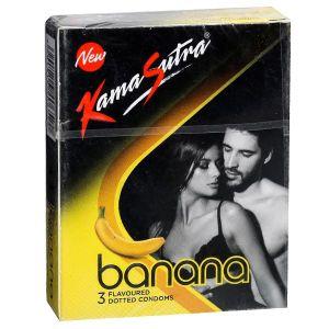KamaSutra Excite Banana Condoms Pack of 3-KSEBA3 at Kaamastra