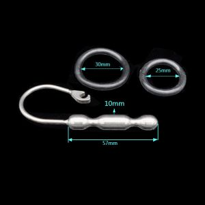Kaamastra Urethral sound Penis Plug Toy with ring end-Q2NOC006 at Kaamastra