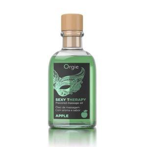 Orgie Sexy Therapy Lip Massage Set Green Apple Flavor 100ml-ORGI02 at Kaamastra