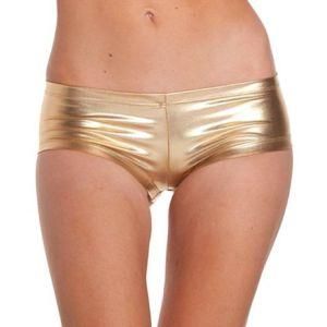 Kaamastra Golden Latex Hot Pants