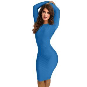 Kaamastra Blue Full Front Bandage Dress