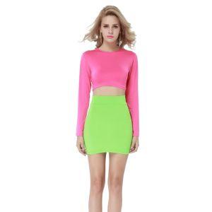 Kaamastra Pink and Green Illusion Dress