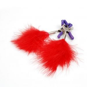 Kaamastra Red Feather Tassel Nipple Clamps