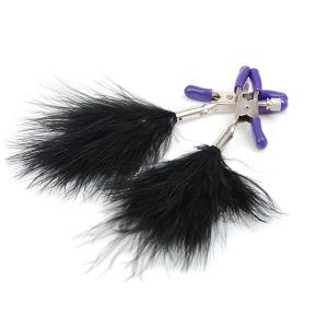 Kaamastra Feather Tassel Nipple Clamps Black