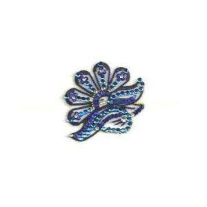 ThE Blue Half Flower Body Jewel