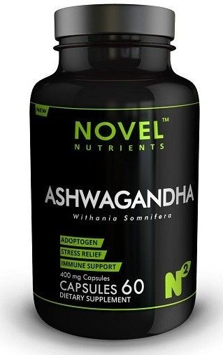 Novel Nutrients Ashwagandha 60 Capsules- 400 mg –