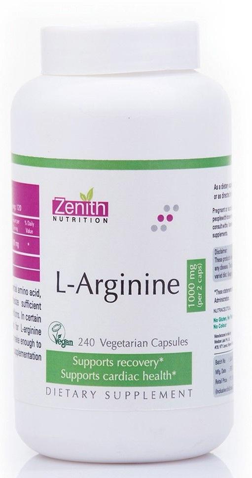Zenith prevnext L-Arginine - 1000mg-240 VegiCaps –